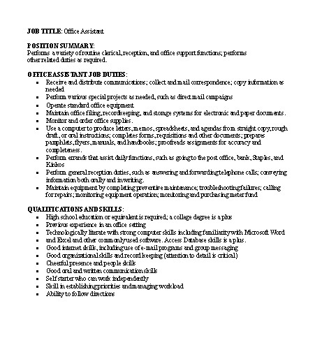 Webmaster Job Description Samples