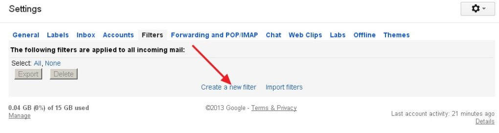 How to Set Filters in GmaIl